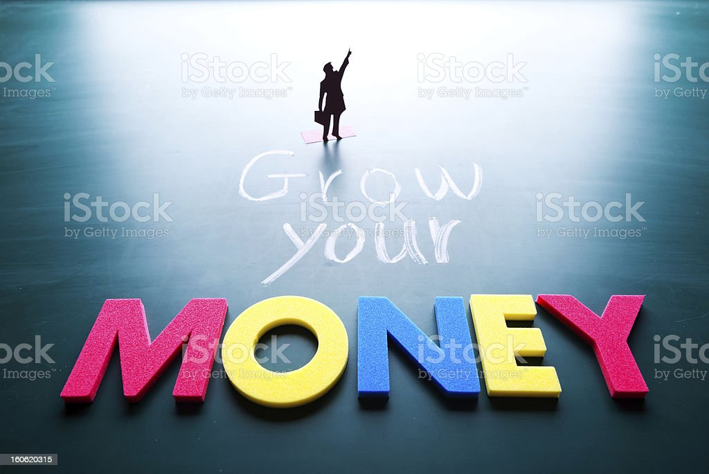 Grow your money concept royalty-free stock photo