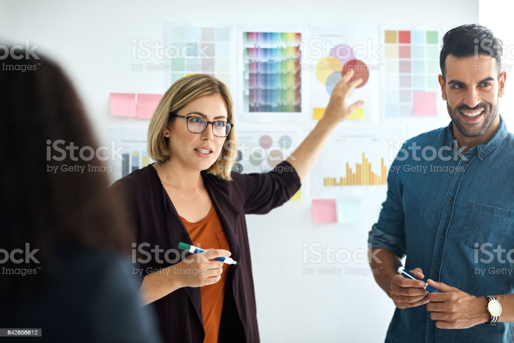 Growing a business one idea at a time stock photo