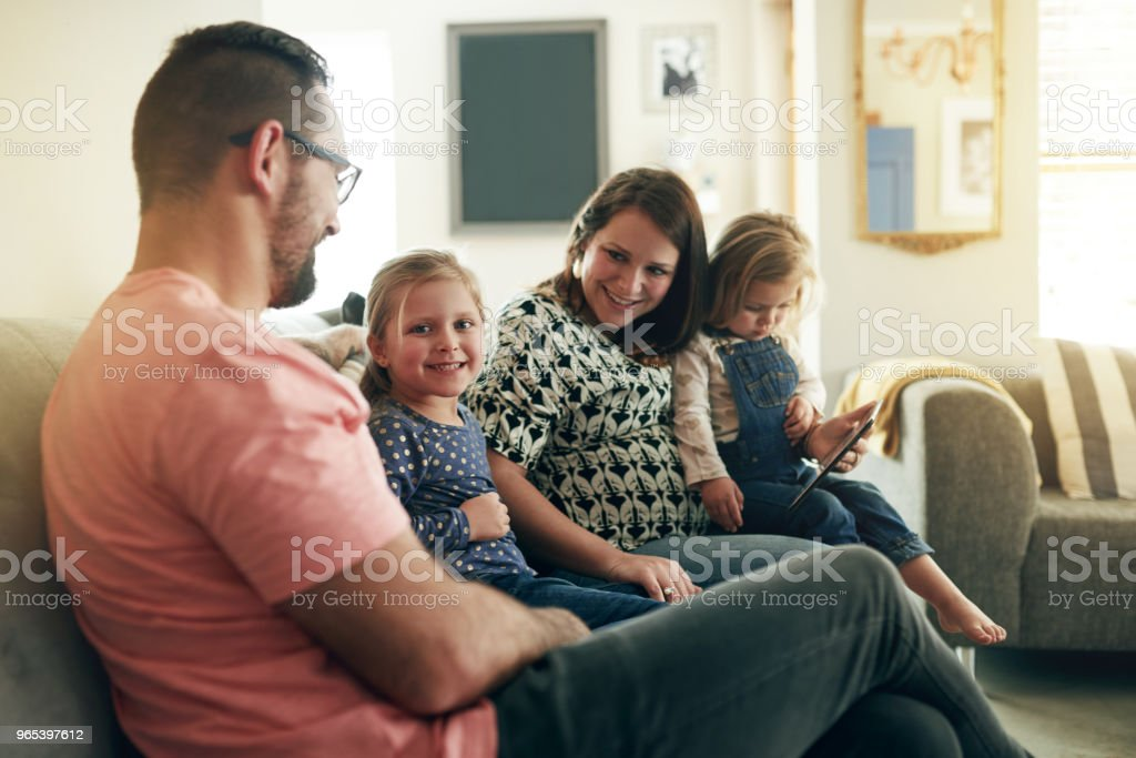 Growing a connected family royalty-free stock photo