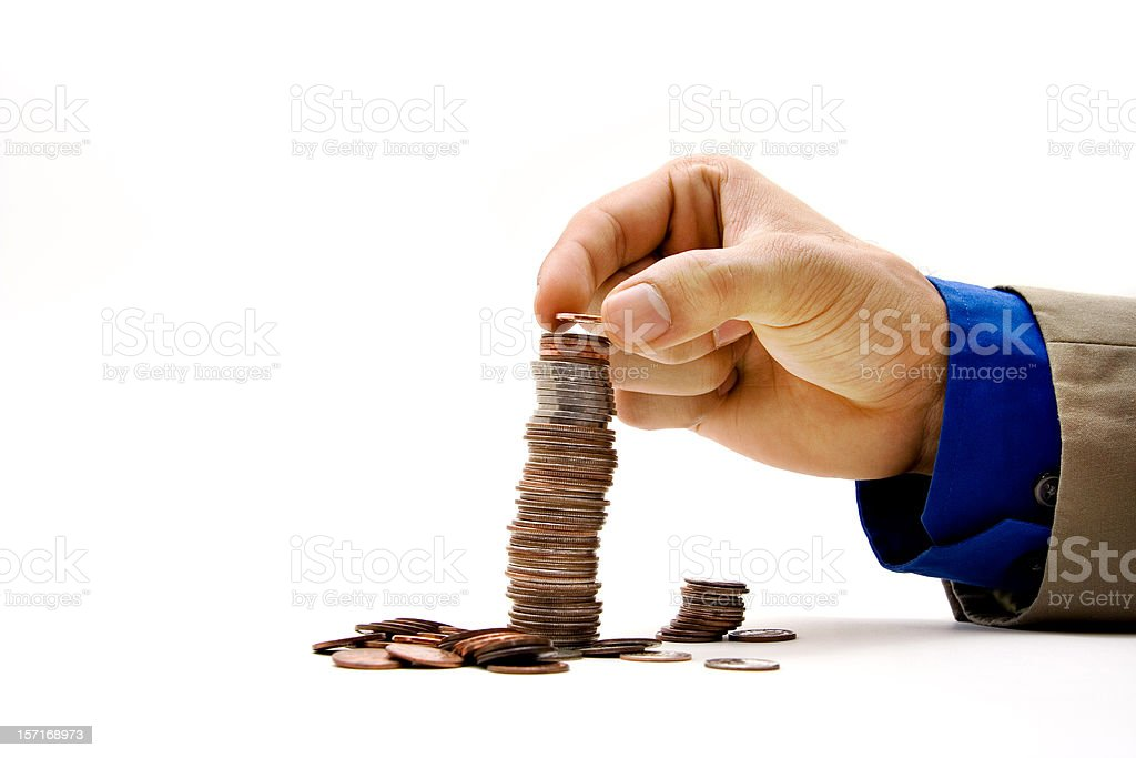 Growing a fortune royalty-free stock photo