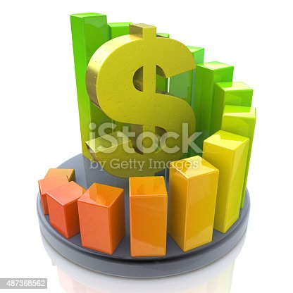 486678786 istock photo Growing business chart with dollar sign 487368562