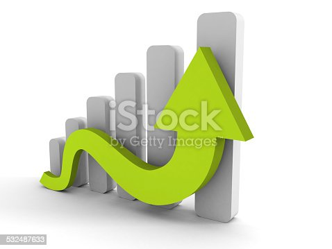 831745600istockphoto growing business graph with rising arrow 532487633