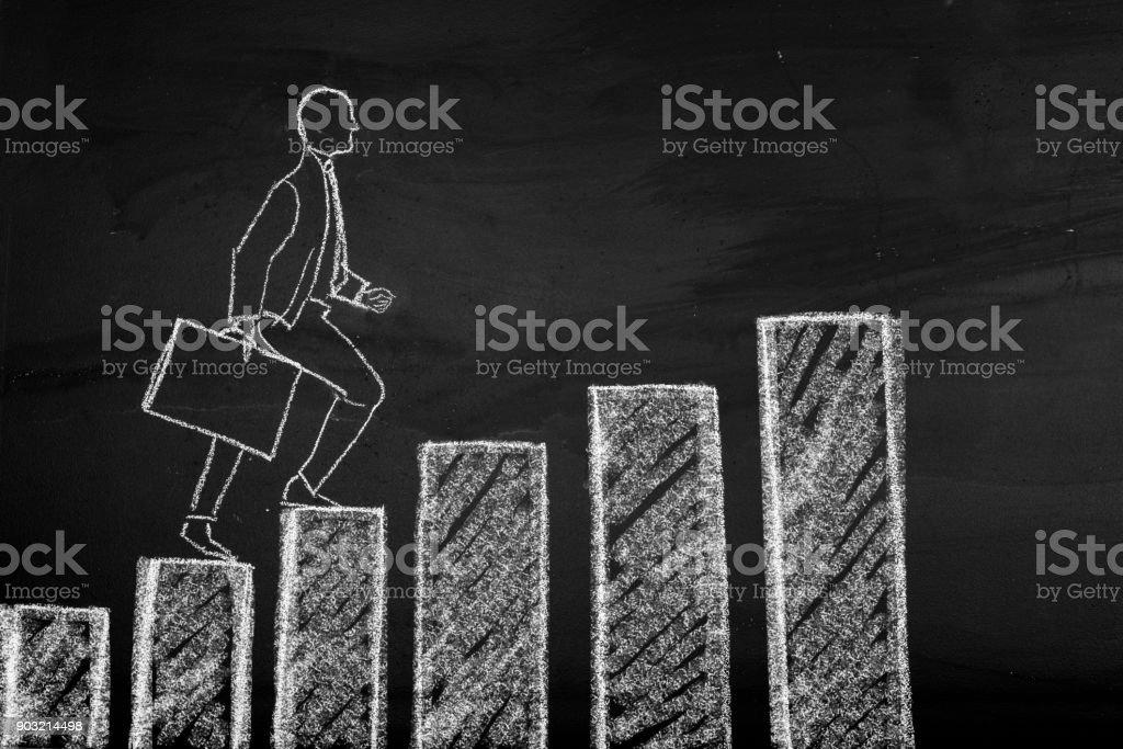 Crescente de negócios - foto de acervo