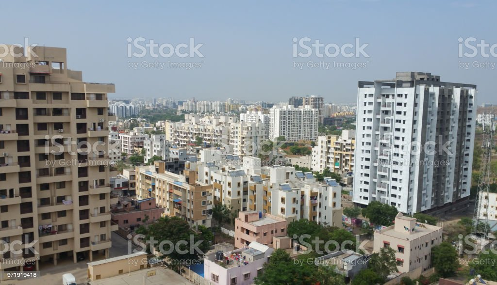 Growing cities in India stock photo