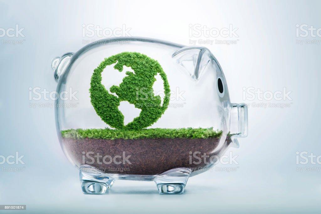 Concepto de fondo limpio eco planeta tierra de crecimiento - foto de stock