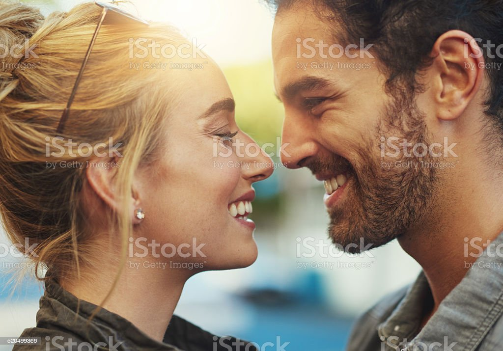 Growing closer by the day stock photo