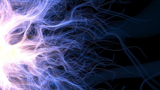 Wachsende Energetischen Linien 3dillustration Mit Tiefe Von Feldeffekt Stockfoto und mehr Bilder von Abstrakt