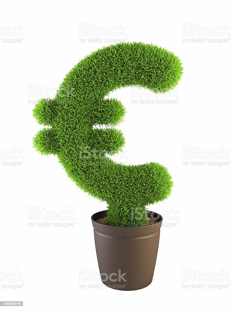growing euro symbol royalty-free stock photo