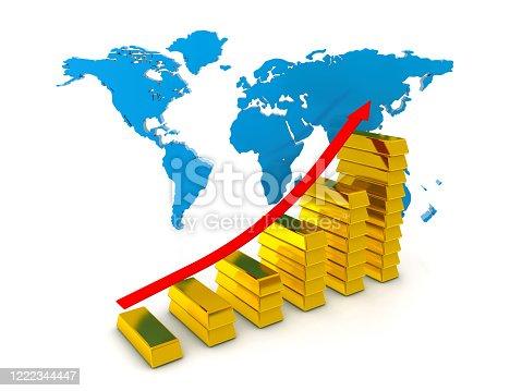 1039640896 istock photo Growing Golden Chart 1222344447