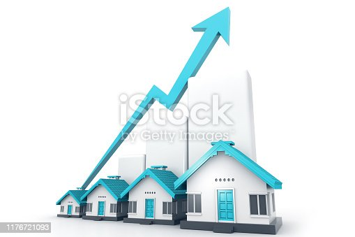 istock Growing home sale graph 1176721093