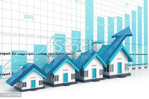 istock Growing home sale graph 1176721143