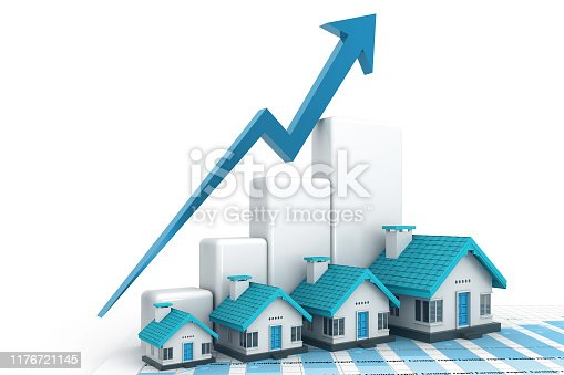 istock Growing home sale graph 1176721145