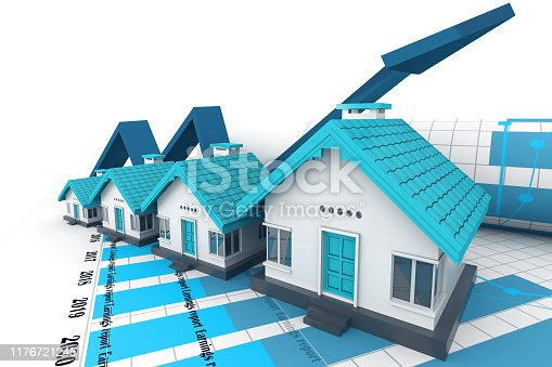 istock Growing home sale graph 1176721245