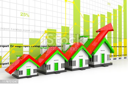 istock Growing home sale graph 1176721247