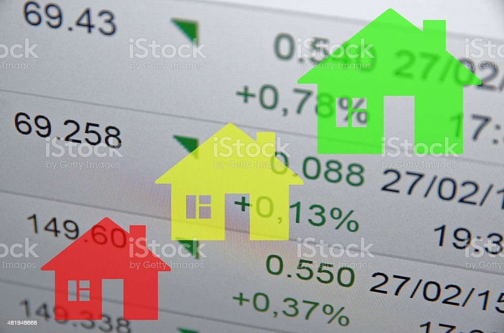 Growing housing market. stock photo