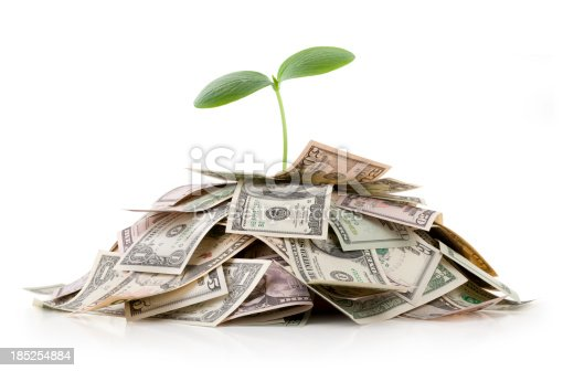 Growing investments. Heap of money with seedling.Some similar pictures from my portfolio: