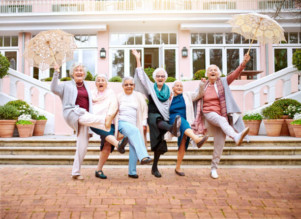 Growing old doesn't mean growing up stock photo