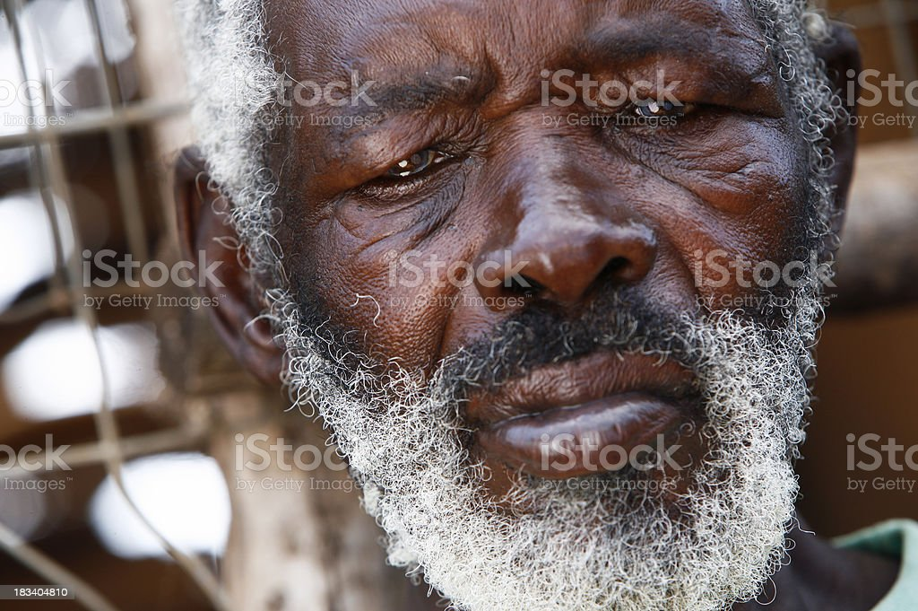 Growing old in Africa royalty-free stock photo