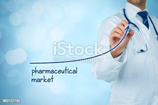 509469434istockphoto Growing pharmaceutical market concept 963122740