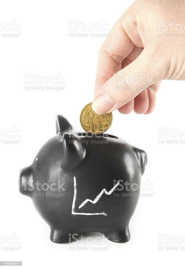 Growing Savings stock photo