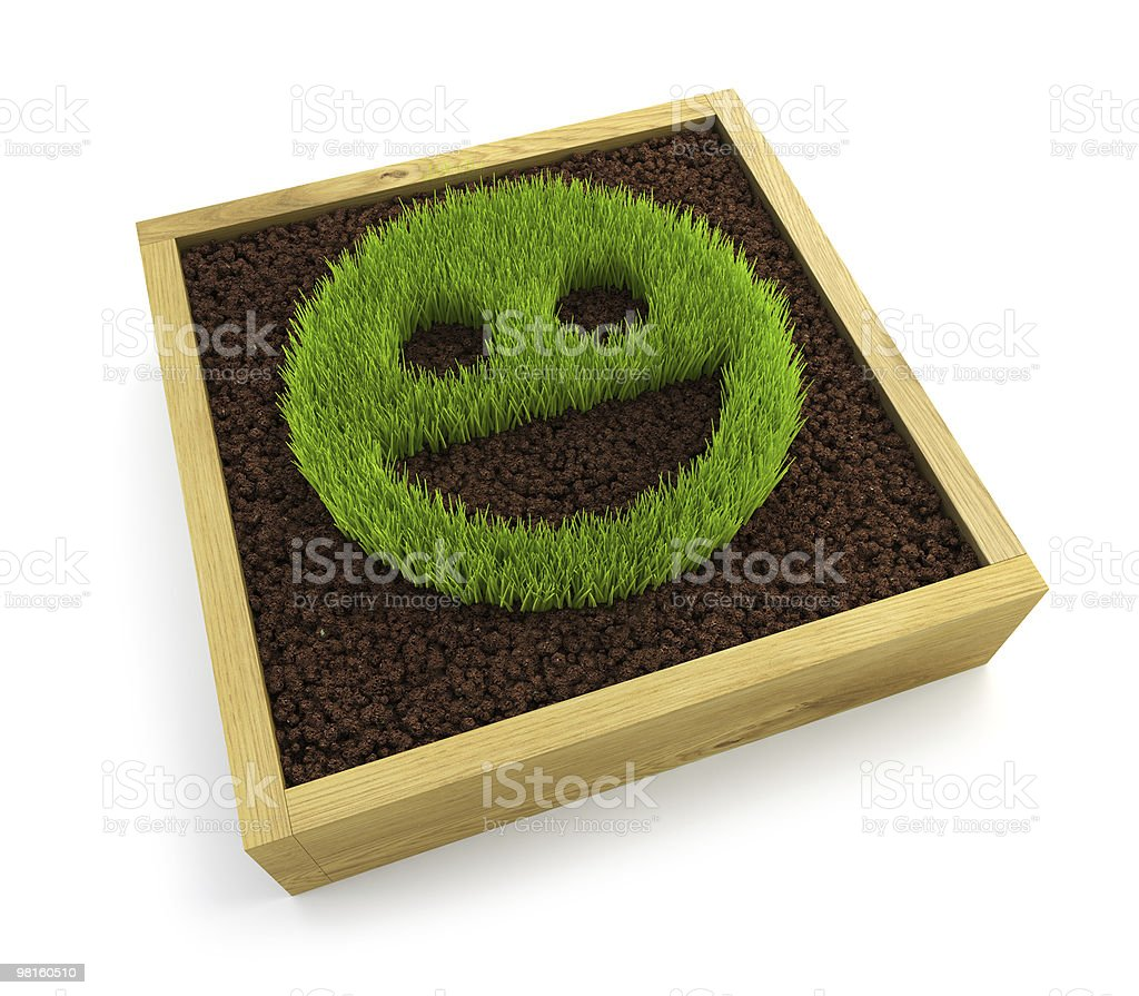 growing smiling face symbol royalty-free stock photo