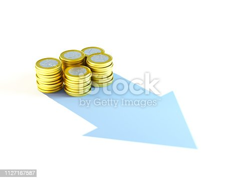 istock growing stack of coins for finance and banking concept, 3d rendering 1127167587