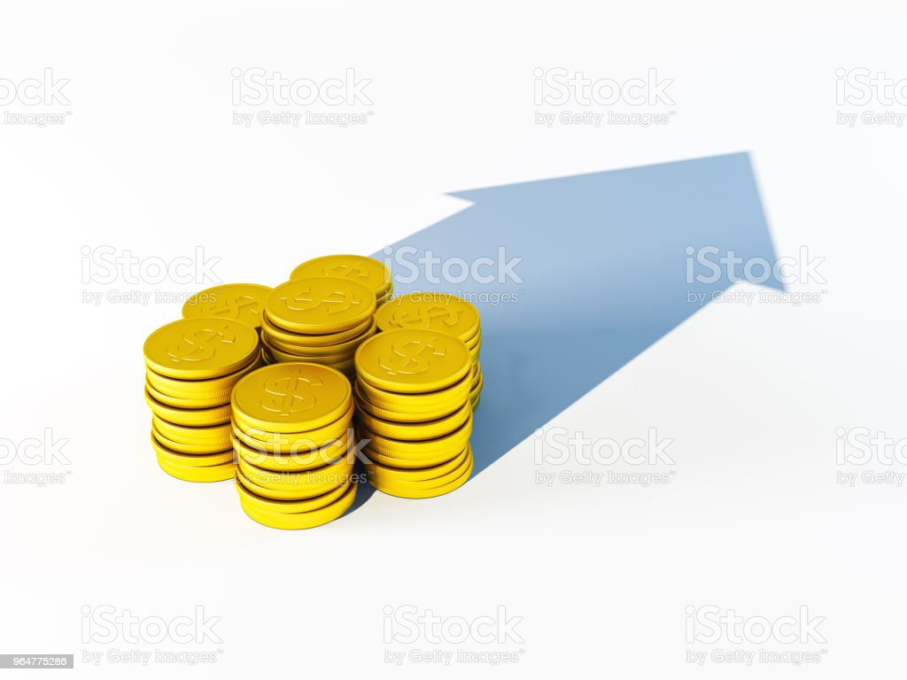 growing stack of coins for finance and banking concept royalty-free stock photo