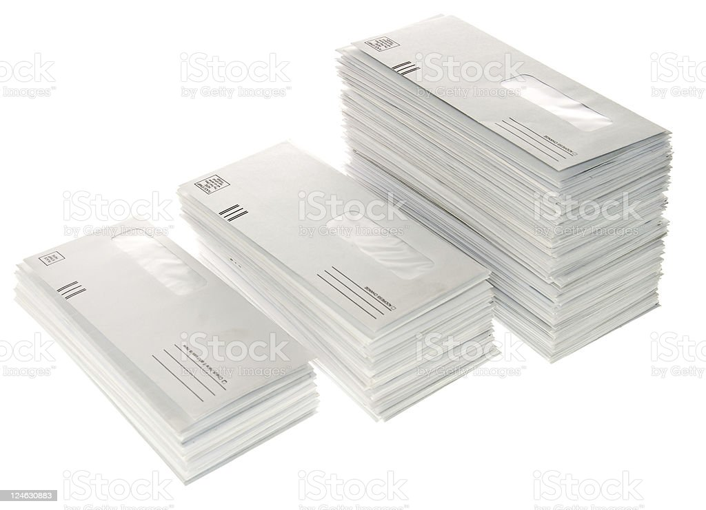 Growing Stacks of Mail stock photo