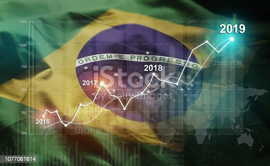 istock Growing Statistic Financial 2019 Against Brazil Flag 1077061614