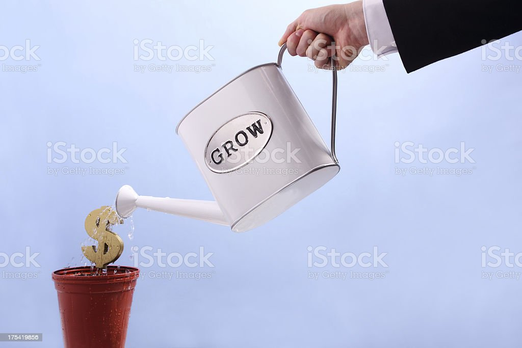 Growing The Business royalty-free stock photo