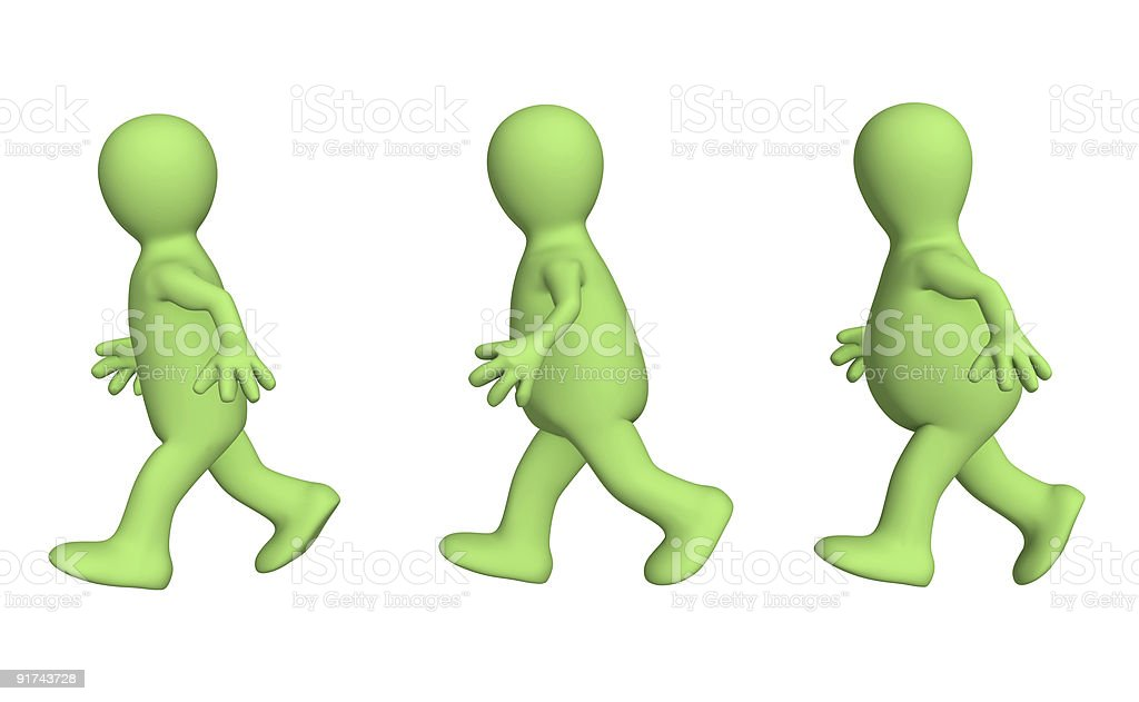 Growing thin by means of run stock photo