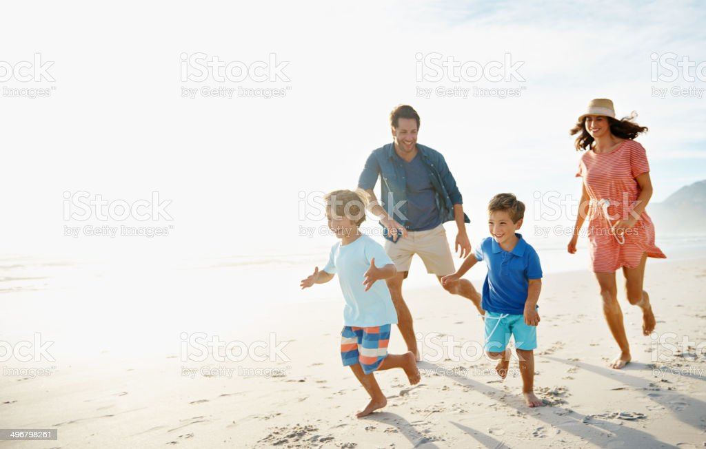 Growing up fit and strong stock photo