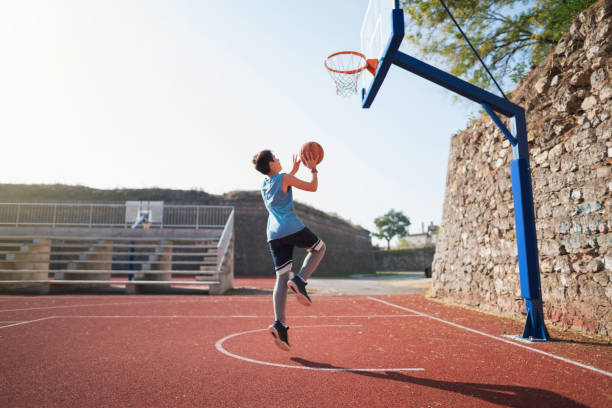 Growing Up With Basketball stock photo