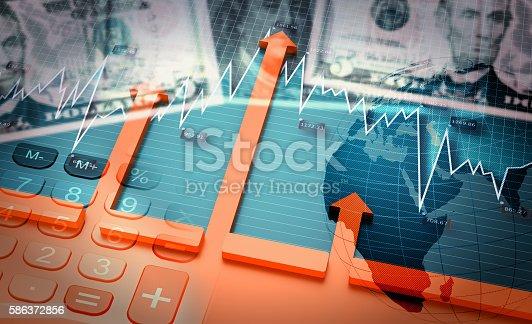 istock Growing world economy and positive developments 586372856