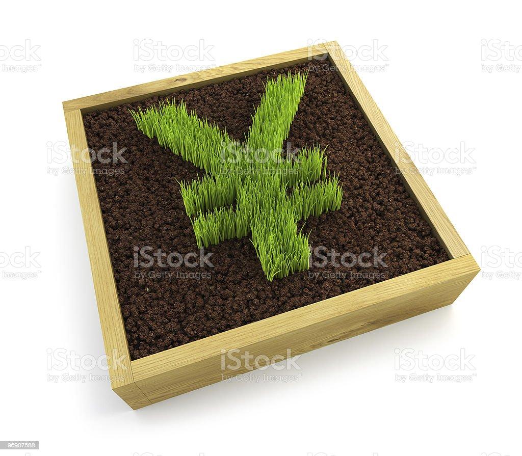 growing yen symbol royalty-free stock photo