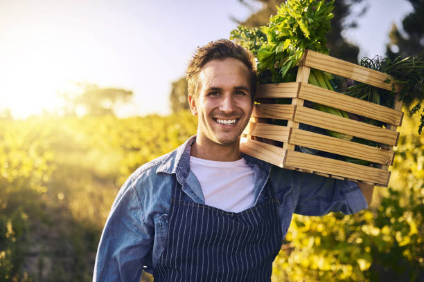 Grown organically just as it should be stock photo