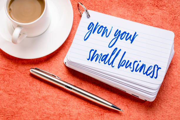 grown your small business stock photo
