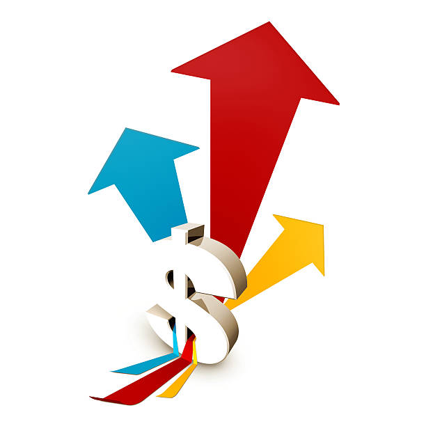 Growth and Success dollar sign stock photo