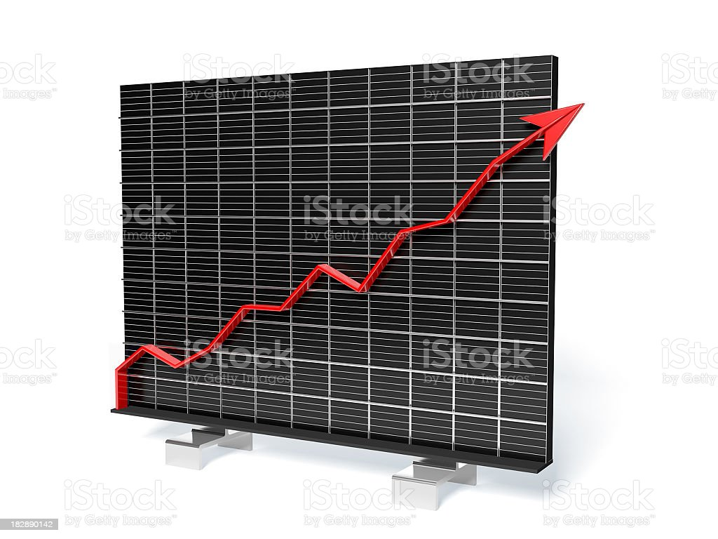 Growth Arrow Chart on measure grid royalty-free stock photo