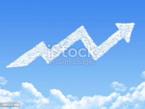 istock growth arrow shaped cloud 483231469
