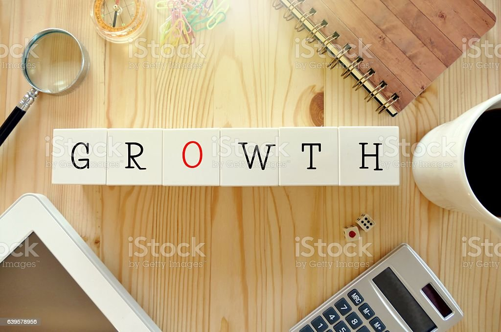 growth  - business concept stock photo