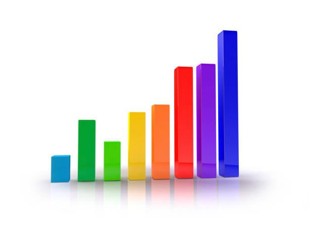 growth chart 01 - diagramma a colonne foto e immagini stock