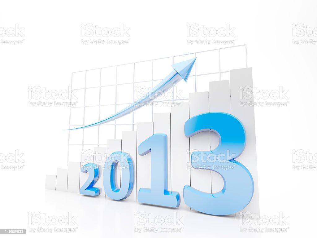 Growth Chart 2013 royalty-free stock photo