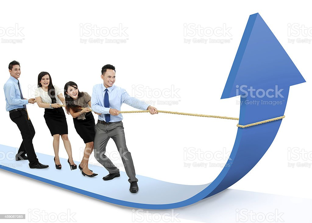 growth chart concept stock photo
