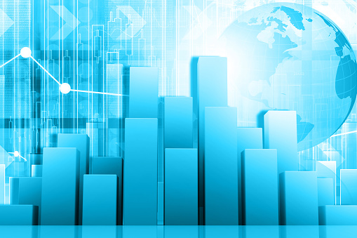 istock Growth chart of global business 1218533827