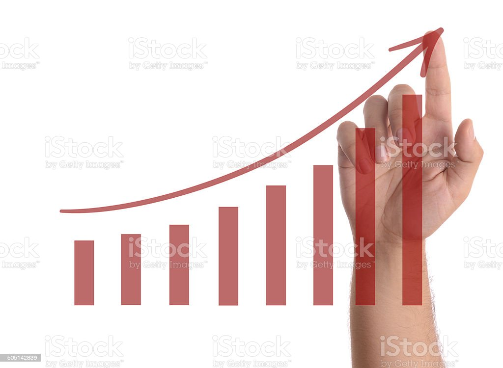 Growth chart stock photo