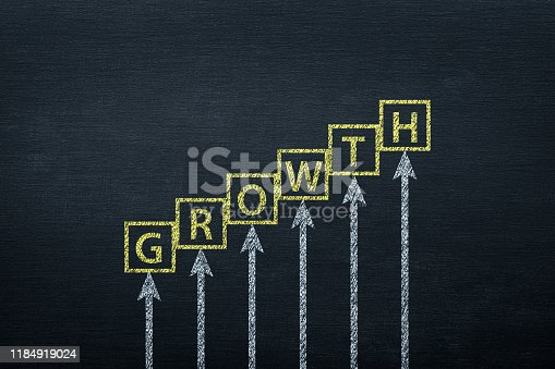 istock Growth Concept on Blackboard 1184919024