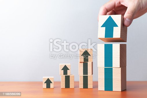 istock Growth graph and arrows. 1166586099