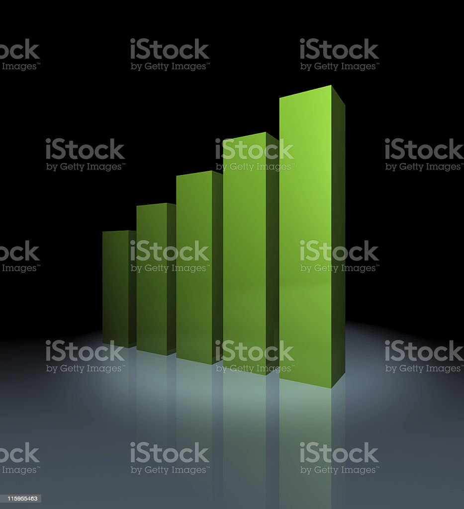 Growth Graph royalty-free stock photo
