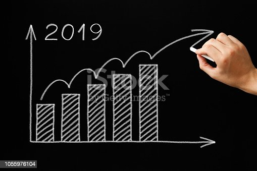 1034181368 istock photo Growth Graph Year 2019 Blackboard Concept 1055976104